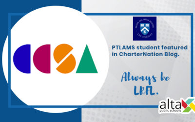 PTLAMS student featured in CharterNation Blog