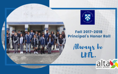 Fall 2017-18 Principal's Honor Roll