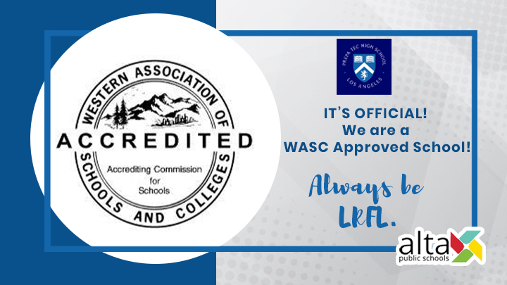 IT'S OFFICIAL! We are a WASC Approved School!
